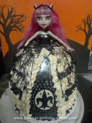 Homemade Rochelle Goyle from Monster High Doll Cake
