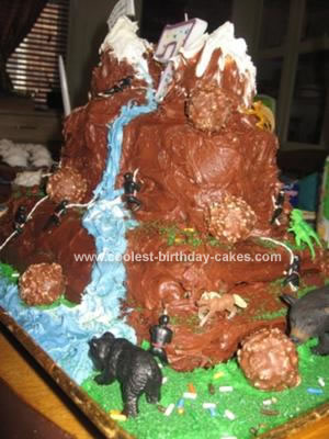 Homemade Rock Climbing Cake