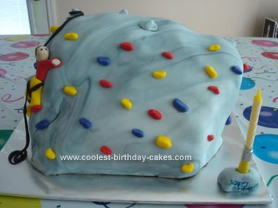 Homemade Rock Climbing Cake