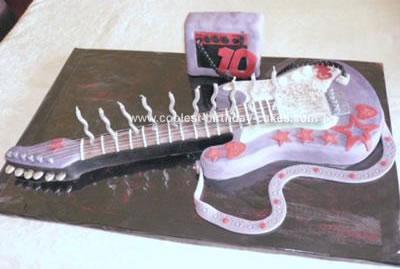 Homemade Rock Guitar Birthday Cake
