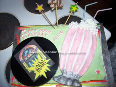 Homemade Rock & Roll Birthday Cake