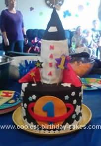 Homemade Rocket Birthday Cake