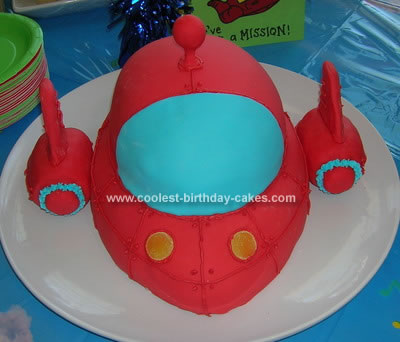 Homemade Rocket Birthday Cake