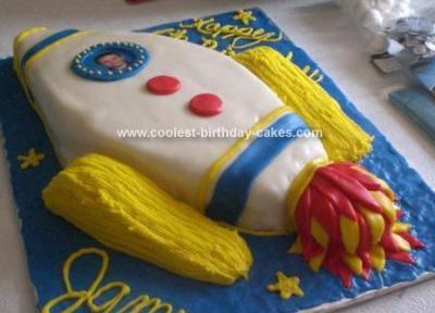 Homemade Rocket Cake