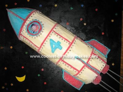 Sensational Coolest Rocket Cake Funny Birthday Cards Online Overcheapnameinfo