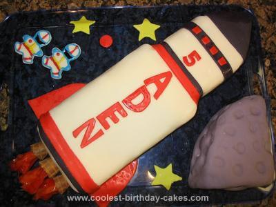 Homemade Rocket Ship Cake