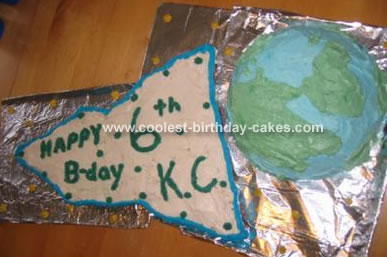 Rocket Shooting And Earth Cake