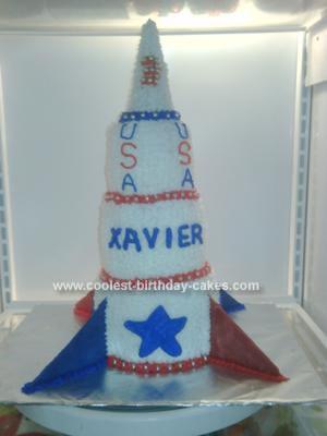 Homemade Rocketship Birthday Cake