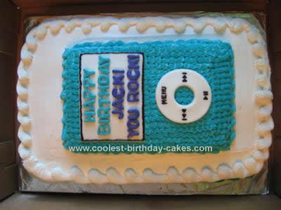 Homemade Rockin Into 8 with Ipod Birthday Cakes