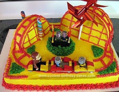 Homemade Roller Coaster Birthday Cake