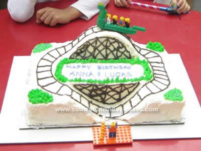 Homemade Roller Coaster Birthday Cake