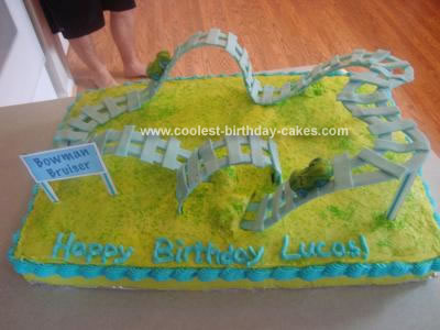 Homemade Roller Coaster Cake
