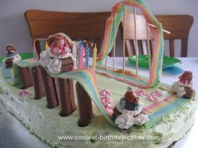 Homemade Roller Coaster Theme Park Cake