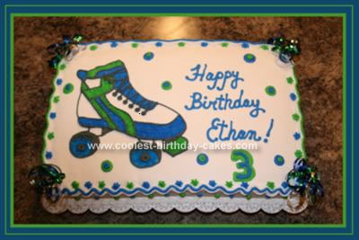 Terrific Cool Homemade Roller Skate Birthday Cake Personalised Birthday Cards Petedlily Jamesorg