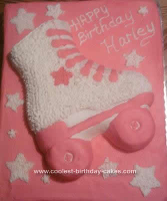 Homemade  Roller Skate Birthday Cake Design