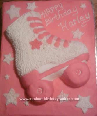 Roller Skate Cake Template