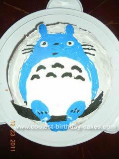 Homemade Round Totoro Cake