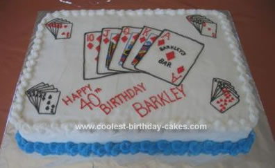 Homemade Royal Flush Cake