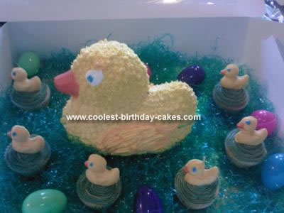 Homemade Rubber Duck cake