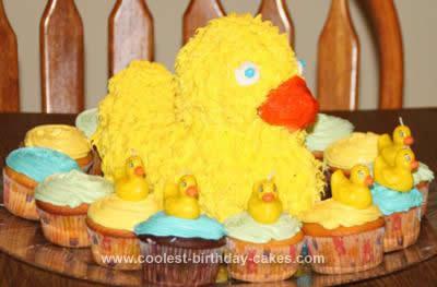Homemade Rubber Duckie Cake