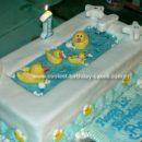 Homemade Rubber Ducks And Bath Cake