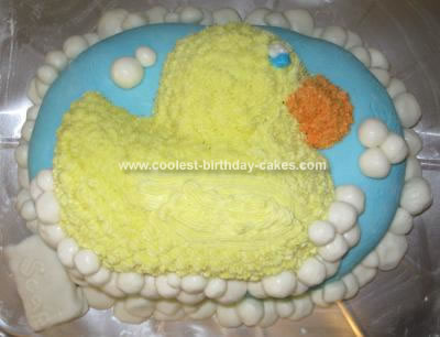 Homemade Rubber Ducky Birthday Cake