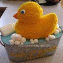 Homemade Rubber Ducky Birthday Cake