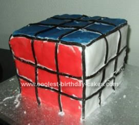 Homemade Rubik Cube Cake