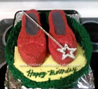 Homemade Ruby Slipper Cake