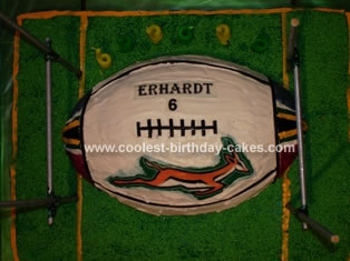 Homemade Rugby Ball Cake