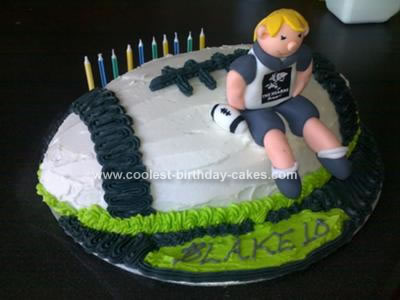 Homemade Rugby Cake
