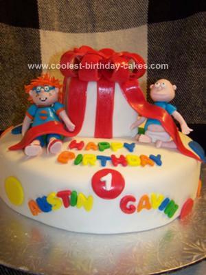 Homemade Rugrats First Birthday Cake