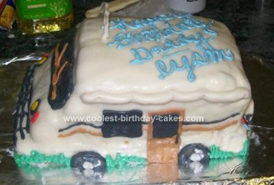 Homemade RV Birthday Cake