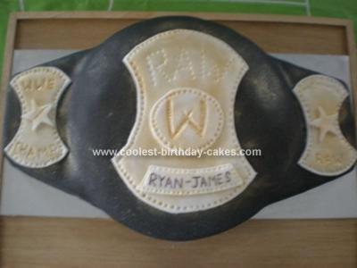 Homemade Ryan James Wrestling Cake