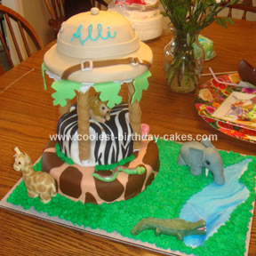 Homemade Safari Birthday Cake
