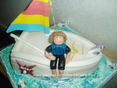 Homemade Sailing Ship Birthday Cake