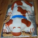 Homemade Saint Bernard Dog Cake Design