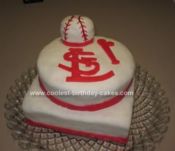 Marvelous Coolest Saint Louis Cardinal Fan Cake Funny Birthday Cards Online Fluifree Goldxyz