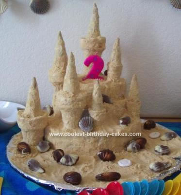 This Sandcastle Birthday Cake And Theme Was Fun To Do The Idea Came From A Family Magazine That I Looking At In Doctors Office