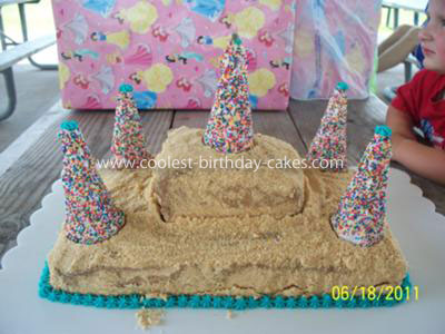 Coolest Sandcastle Cake