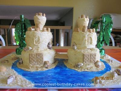 Homemade Sandcastle Cake