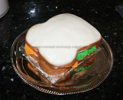 Homemade Sandwich Birthday Cake