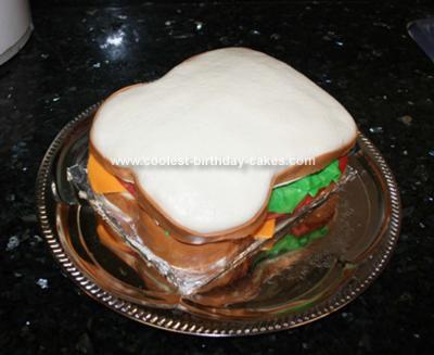 Homemade Sandwich Birthday Cake