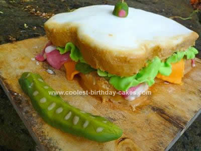 Homemade Sandwich Birthday Cake Design
