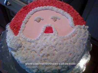 Homemade  Santa Cake Design