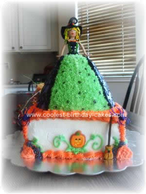 Homemade Sassy Witch Cake Design