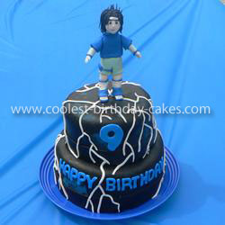 Admirable Coolest Sasuke From Naruto Birthday Cake Personalised Birthday Cards Sponlily Jamesorg