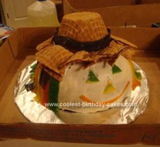 Homemade Scarecrow Cake