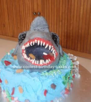 Amazing Coolest Scary Shark Birthday Cake Funny Birthday Cards Online Inifofree Goldxyz
