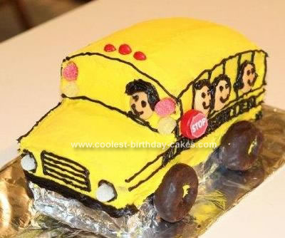 Homemade School Bus Cake